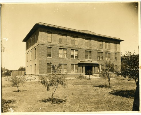 Zellner Hall with three stories, ca. 1920.  Photograph, Sewell Photograph Collection, Milliken Special Collections, Abilene Christian University, Abilene, TX.