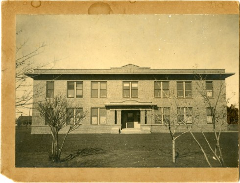 The original Zellner Hall, built in 1917. Photograph, Sewell Photograph Collection, Milliken Special Collections, Abilene Christian University, Abilene, TX.