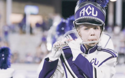 Behind the Scenes with the Big Purple Marching Band