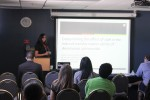 Kristen also presented research on bacteria.
