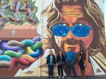 The Dude abides - properly painted on the side of a bowling alley!