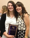 Spirit of the Counselor award recipient, Meredith Platt, with Dr. Jaime Goff