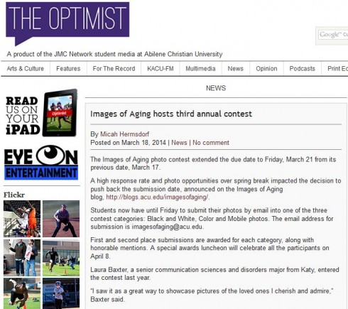 Images of Aging Optimist Story