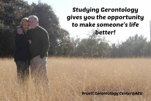 Studying Gerontology gives you the opportunity to make someone's life better!