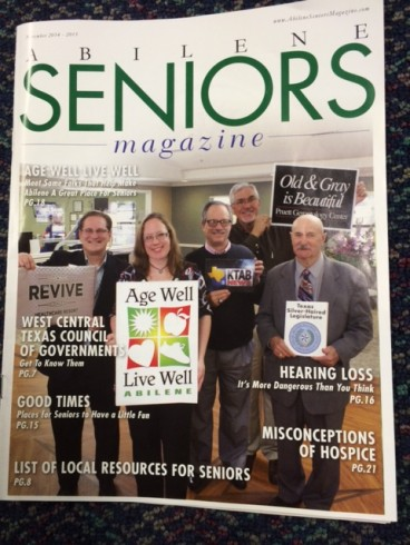 Dr. Pruett on the cover of Abilene Seniors magazine