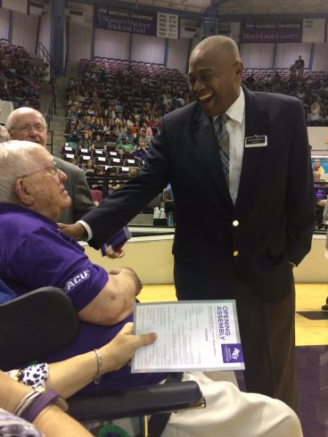 Mayor Anthony Williams and ACU Chancellor Emeritus Dr. William Teague