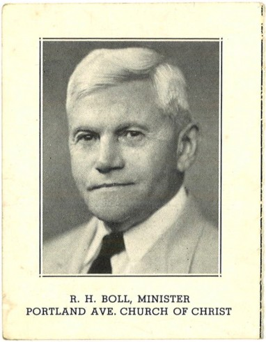 ACU_Boll, Robert Henry, meeting card 1940s, from Ice collection