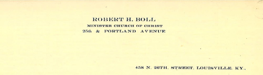 Robert Henry Boll Digital Archive