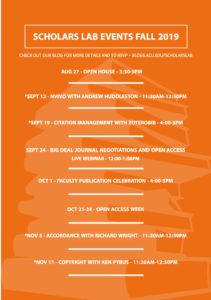 Events Flyer Fall 2019