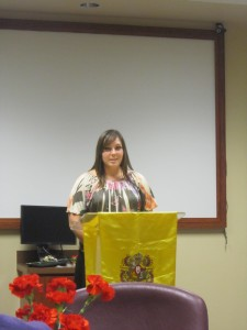Former President Briana Burton Welcoming Guests and soon-to-be Memebers