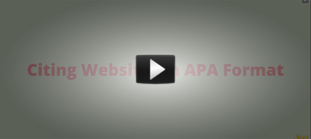 Citing Web Content in APA Format