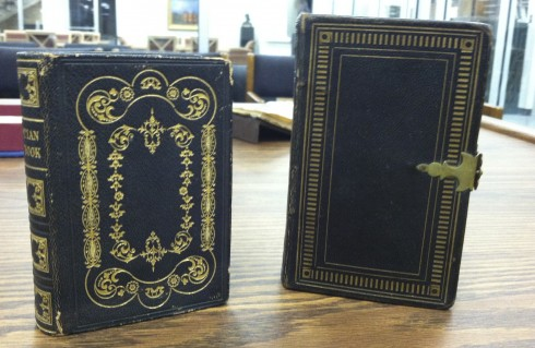 Campbell hymnals, decorative leather