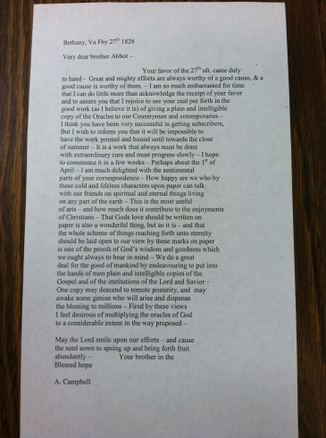 Campbell letter transcription