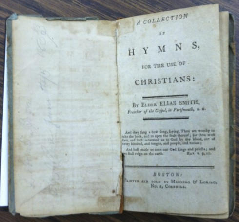 Elias Smith, A Collection of Hymns, 1804