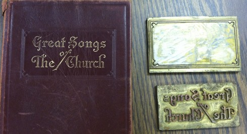 Great Songs of the Church printing block and leather edition 2