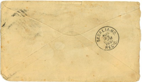 ACU_Johnson_Davis_8.28.91_envelope_back