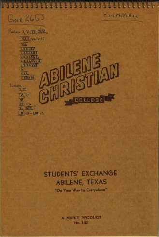 ACU_McMillan_Earle_Greeknotebook