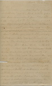 The first page of Mary Hamilton Ervin's letter.