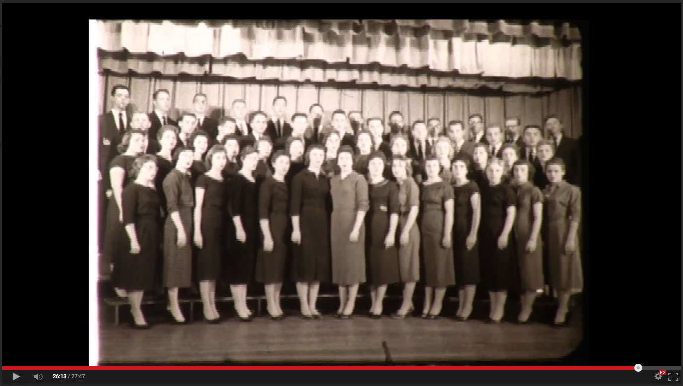 Chorus, Freed-Hardeman College, November 20-21, 1958; Herald of Truth Television Film #65. Center for Restoration Studies, Milliken Special Collections, Abilene Christian University, Abilene, TX.