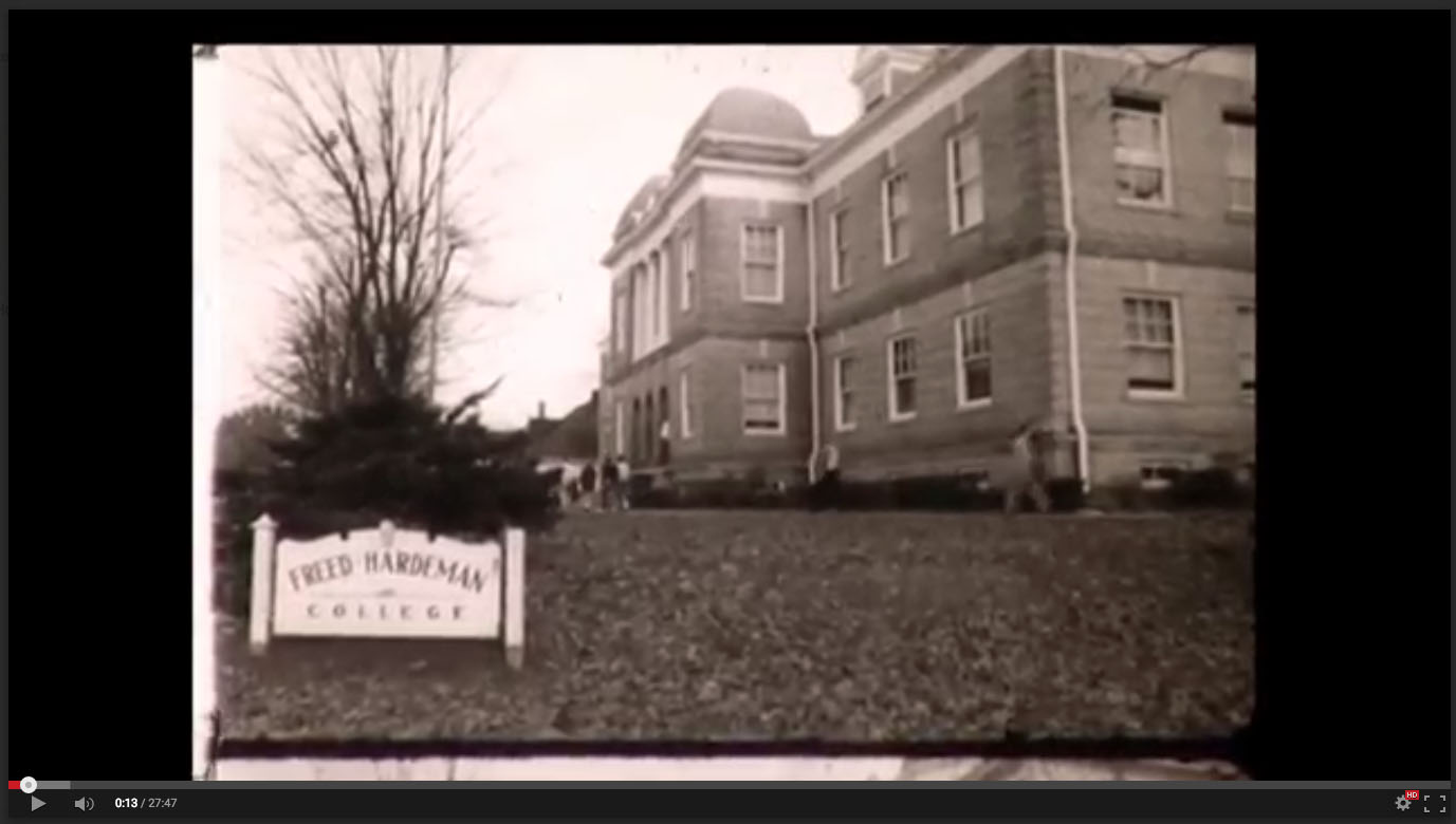 Old Main, Freed-Hardeman College, November 20-21, 1958; Herald of Truth Television Film #65. Center for Restoration Studies, Milliken Special Collections, Abilene Christian University, Abilene, TX.