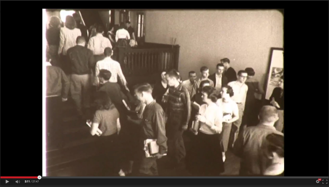 Student body in Old Main, Freed-Hardeman College, November 20-21, 1958; Herald of Truth Television Film #65. Center for Restoration Studies, Milliken Special Collections, Abilene Christian University, Abilene, TX.