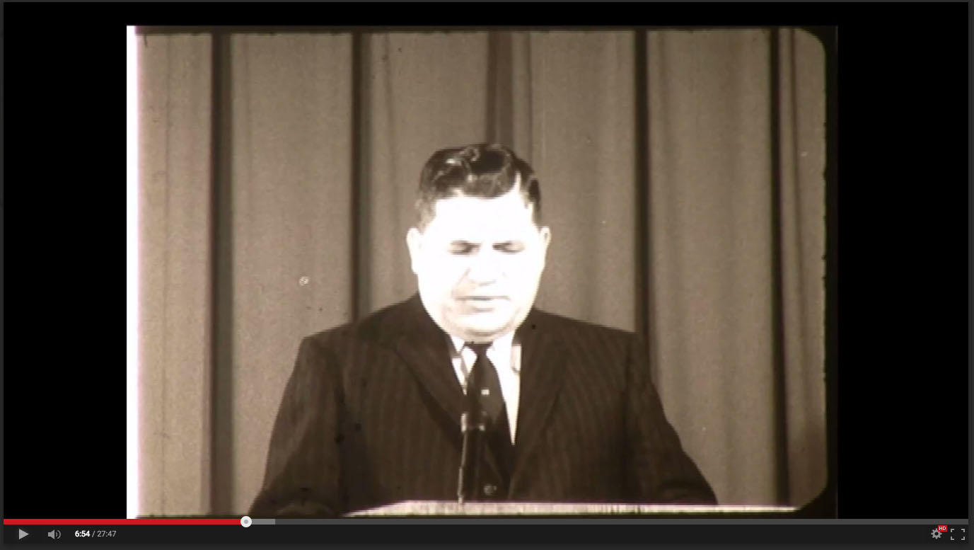 Frank Van Dyke, Freed-Hardeman College, November 20-21, 1958; Herald of Truth Television Film #65. Center for Restoration Studies, Milliken Special Collections, Abilene Christian University, Abilene, TX.