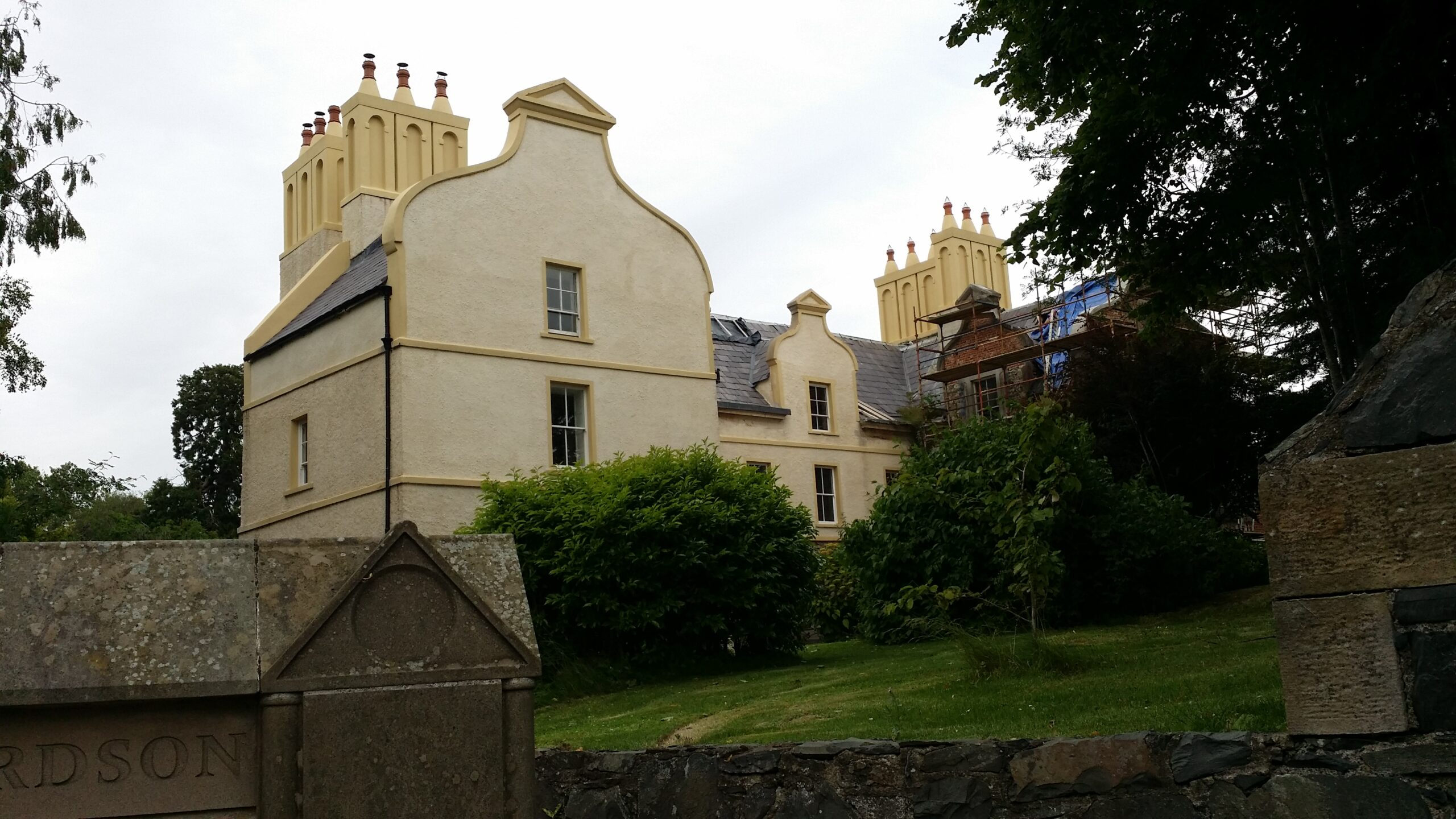 Castle of William Richardson, large U-shaped house in Rich Hill.
