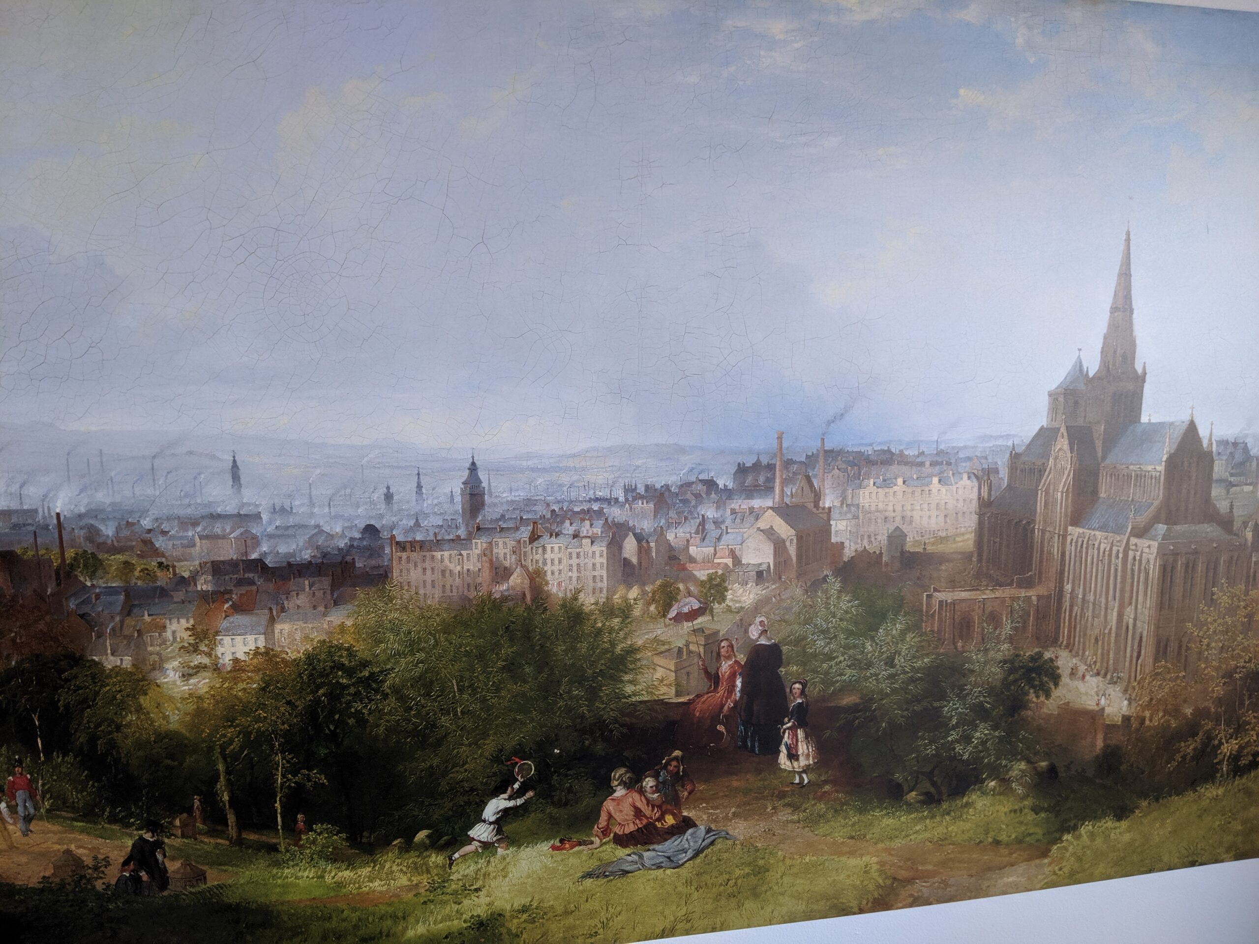 Painting of Glasgow in the 1840