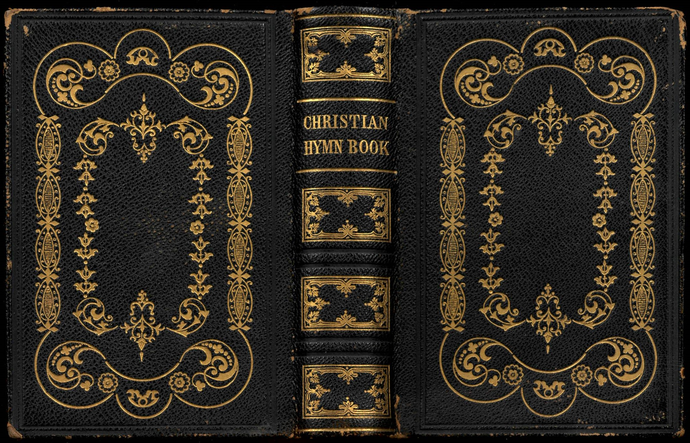 The Christian Hymn Book: A Compilation of Psalms, Hymns and Spiritual Songs, Original and Selected. 5th ed. Printed and Published by A. Campbell: Bethany, 1860. Covers.