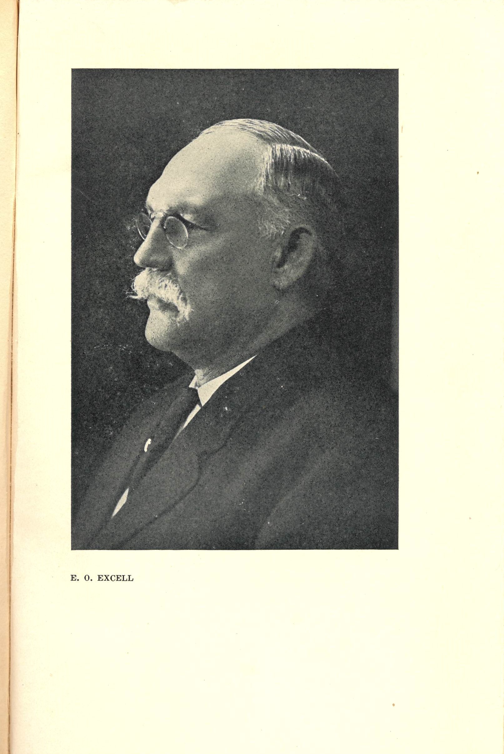 Photograph. E. O. Excell, from George C. Stebbins: Reminiscences and Gospel Hymn Stories. George H. Doran Company: New York, 1924.