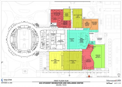 Student Recreation Center: Floor Plan