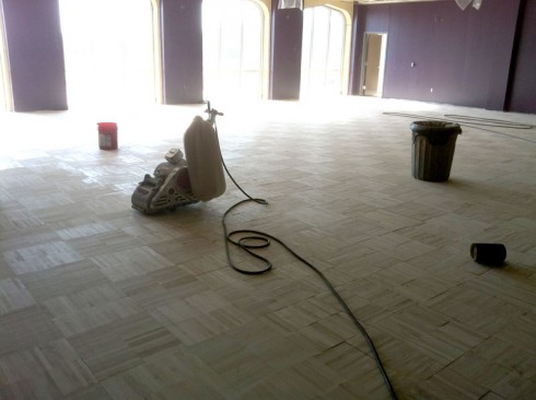 Money student recreation and wellness center early - Painted parquet floor pictures ...