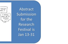 Abstract Submission Open for the 2014 Undergraduate Research Festival