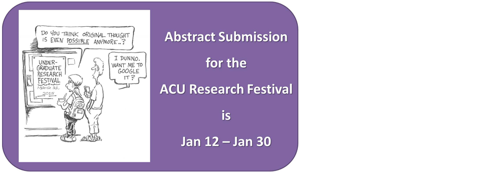 Abstract Submission for the 2015 Research Festival is Now Open