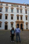 Hannah Hamilton and Dr. Willis visiting a palace in Celle, Germany