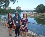 Amber Grothe, Kathryn Mitchell, and Sam Studvick at Evolution 2016
