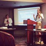 Courtney Tee and Tessa Cave presenting at Association for the Sociology of Religion