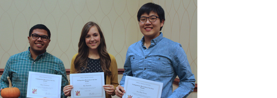Undergraduate Research Dinner Fall 2015